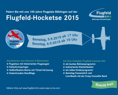 Flugfeld-Hocketse am 5. und 6. September